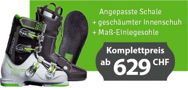 Skischuh nach Mass ab CHF 629